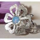 Prstan z opalom Divji cvet